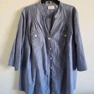 Avenue Plus size Denim shirt